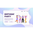 banner birthday party concept vector image