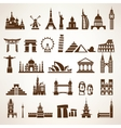 big set of world landmarks and historic buildings vector image vector image