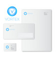 blue vortex logo identity vector image