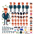 businessman constructor creation of male vector image vector image