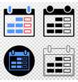 calendar page eps icon with contour version vector image