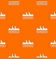 canoeing pattern seamless vector image vector image