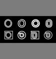 capital letter o modern set for monograms logos vector image vector image