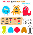 cartoon funny monsters creation kit create your vector image vector image