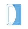 cartoon smartphone technology communication call vector image