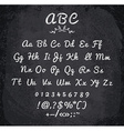 chalked alphabet vector image vector image