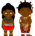 cheerful african couple from swaziland vector image vector image