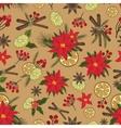 Christmas samless pattern setNew year doodles vector image vector image