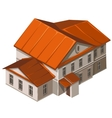 Classic building of municipal institution vector image vector image