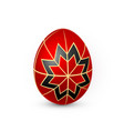 color easter egg on white background red and vector image