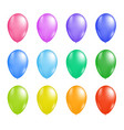 colorful balloon set vector image vector image