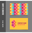 Corporate identity - business cards for company vector image