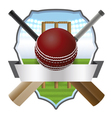 Cricket Badge vector image