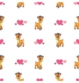 Cute seamless pattern with little cartoon deer vector image vector image