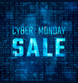 cyber monday sale technology banner discount vector image vector image