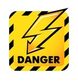 danger button vector image vector image