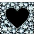 Diamond Heart Frame vector image vector image