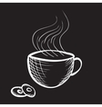 engraved cup of coffee vector image