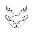 figure cute deer head wild animal vector image vector image