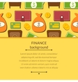 Finance background with objects in flat style and vector image vector image