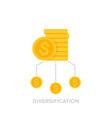 financial diversification icon vector image vector image