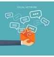 Flat background Social media vector image vector image