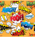 foof seamless comics background vector image