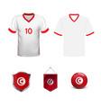 football kit tunisia 2018 shirt template for vector image vector image