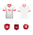 football kit tunisia 2018 shirt template vector image vector image