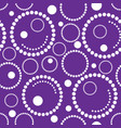 geometric purple background circles vector image