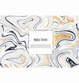 gold black white marble template trendy pattern vector image vector image