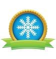 Gold snowflake logo vector image