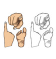 hand showing a fig sign vector image
