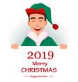 handsome santa claus helper elf vector image