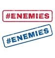 Hashtag Enemies Rubber Stamps vector image vector image