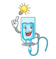 have an idea infussion bottle mascot cartoon vector image