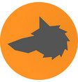 head wolf sign vector image vector image