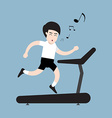 healthy running man vector image vector image