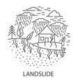 land slide natural disaster vector image