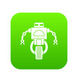 machine robot icon digital green vector image vector image