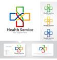 medicine logo designs vector image vector image