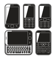 Modern mobile phone set With QWERTY keyboard vector image vector image