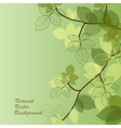 Natural background with green leaves vector image vector image