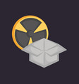 nuclear symbol design vector image