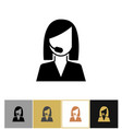 Operator icon call center secretary sales agent vector image