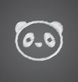 panda sketch logo doodle icon vector image vector image