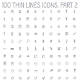 part 2 of collection thin lines pictogram icon set vector image vector image