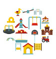playground set flat icons vector image