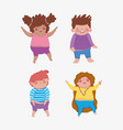 set girls and boys friends wth hairstyle vector image