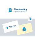 setting document logotype with business card vector image vector image